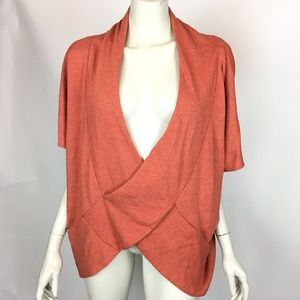 Naked Zebra Orange Criss Cross Cardigan Sweater